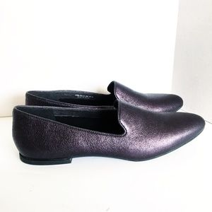 Camper Purple Metallic Loafers Flats Driving Shoes